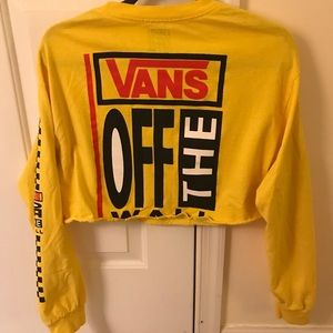 Urban Outfitters VANS Cropped Long Sleeve
